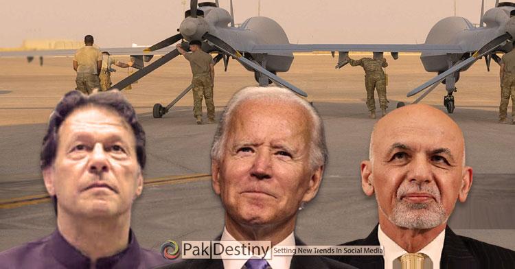 us army drones, imran khan,biden,ashraf ghani,pakisani air base