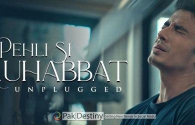 ali zafar releases ost Pehli Si Mohabbat unplugged