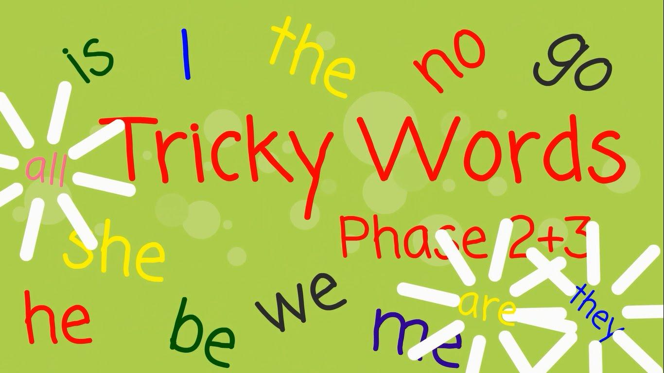 Tricky Word List For Reception Children