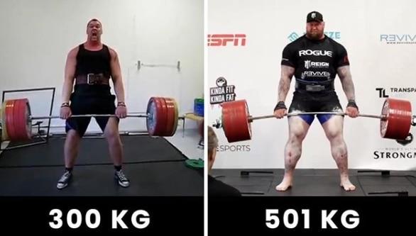 martwy ciąg rekord 501 kilogramów hafthor bjornsson