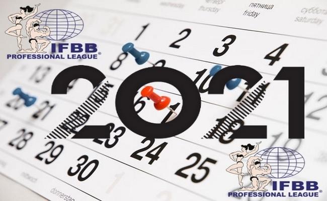 kalendarz zawodów IFBB kulturystyka i fitness 2021