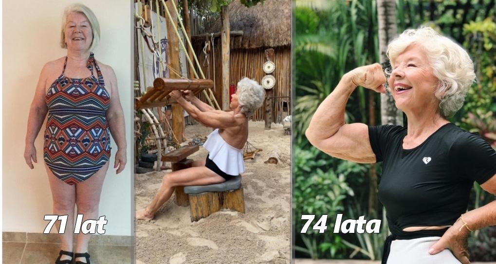 babcia metamorfoza 74 lata siłownia
