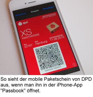 DPDPaketscheine jetzt auf Handys ohne Ausdrucken