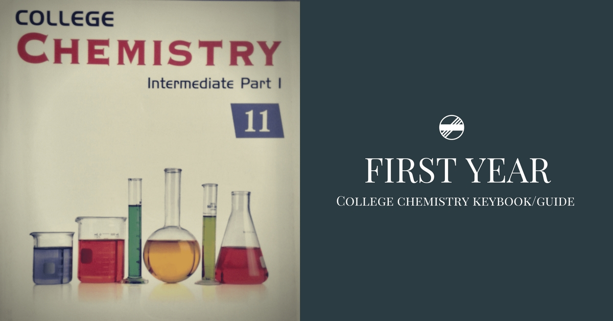 First Year College Chemistry Guide/Keybook PDF | Pakget