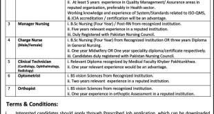 Lady Reading Hospital Peshawar Jobs 2018 LRH Vacancies Application Form