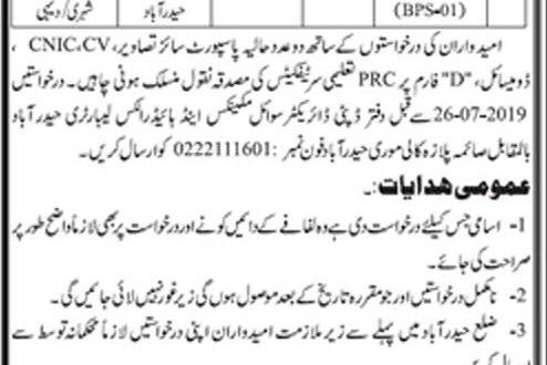 Irrigation Department Sindh Karachi Jobs 2019 Interview Application Form