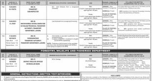 Transport Department Punjab Jobs Sub Inspector 2019 www.ppsc.gop.pk