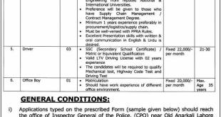 Punjab Police Department Jobs 2018 Application Form Last Date Interview Date