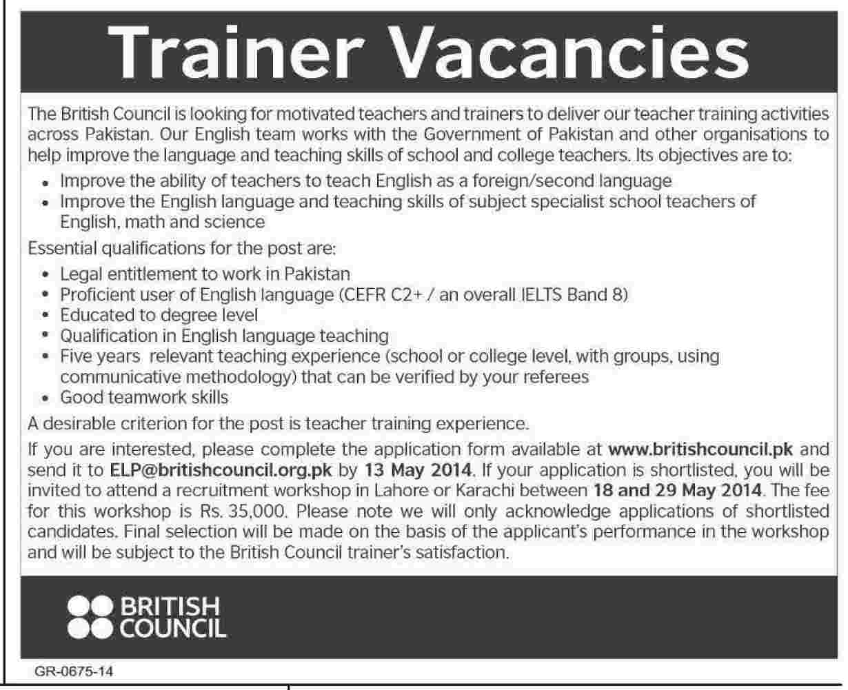 British Council Required Staff British Council Jobs