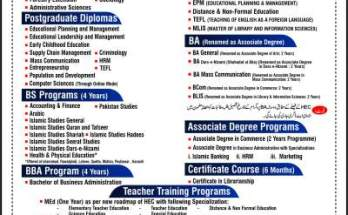 AIOU BA Admission Spring 2020 Last Date