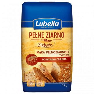LUBELLA Mąka Pełnoziarnista 3 Zboża Do Chleba 1kg