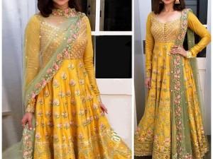 Pakistani Mehndi Dresses 2019 With Price Embroidered