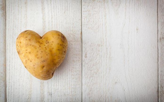 products made from potatoes, heart, health, diet