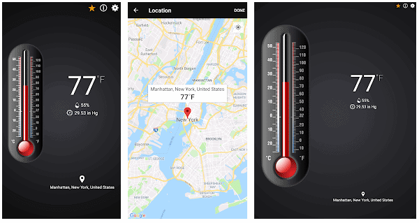 Thermometer++ , distance measurement app