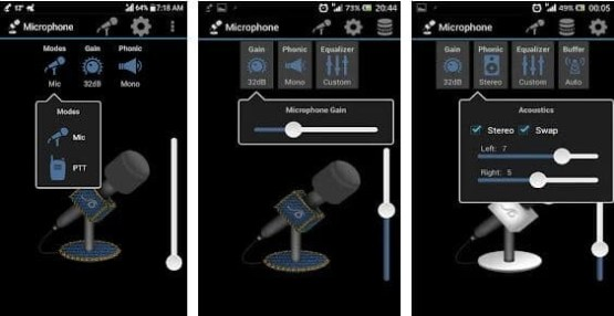 microphone not working on android
