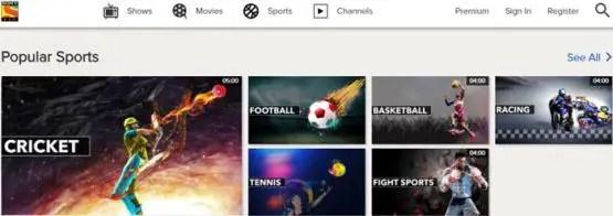 SONY LIV , Sports Sites