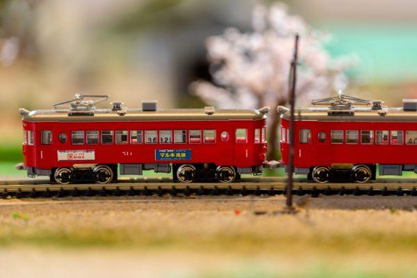 電車 通勤 桜 ジオラマ