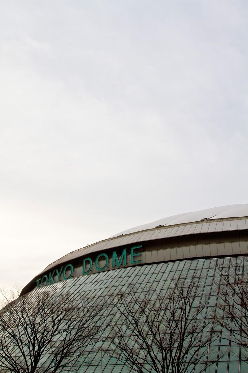 「曇り空と東京ドーム」