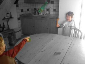 The Boys discover bottle throwing