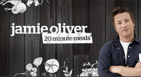 Jamie Oliver in his app