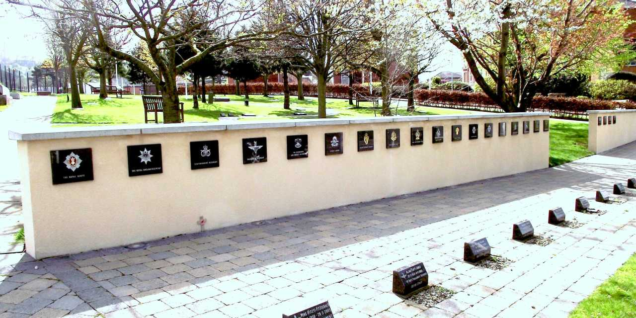 Palace Barracks Memorial Garden in Holywood Northern Ireland