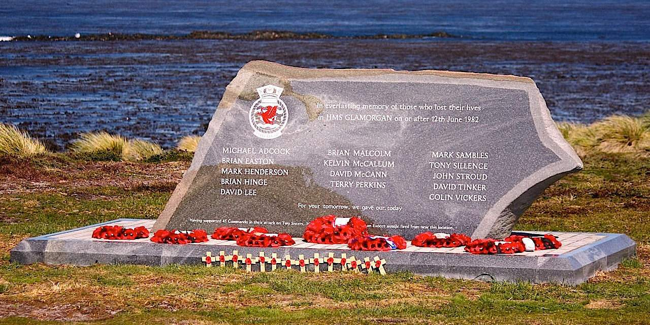 HMS GLAMORGAN MEMORIAL FALKLAND ISLANDS