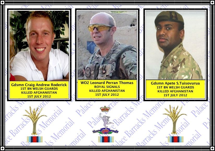 Three soldiers killed in Afghanistan , Sunday 1 July 2012