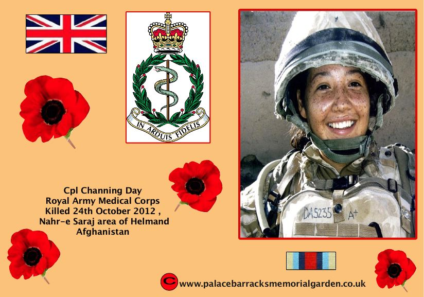 Cpl Channing Amanda Day Killed Afghanistan 24th October 2012