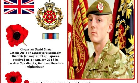 Kingsman David Robert Shaw from 1st Battalion The Duke of Lancaster's Regiment