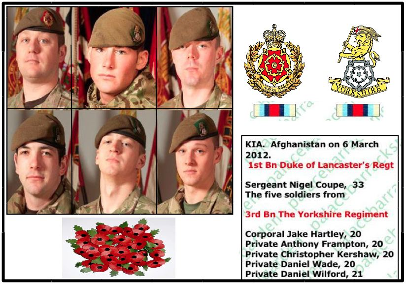 REMEMBER THIS DAY 6TH MARCH 2012 AFGHANISTAN