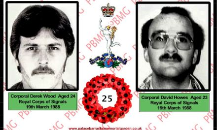 25th ANNIVERSARY SOLDIERS DRAGGED FROM CAR AND MURDERED.BELFAST