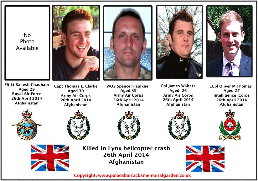LXNX HELICOPTER CRASH AFGHANISTAN FIVE FATALITIES NAMED