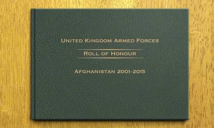 200 Page Full Colour Roll of Honour Book Afghanistan