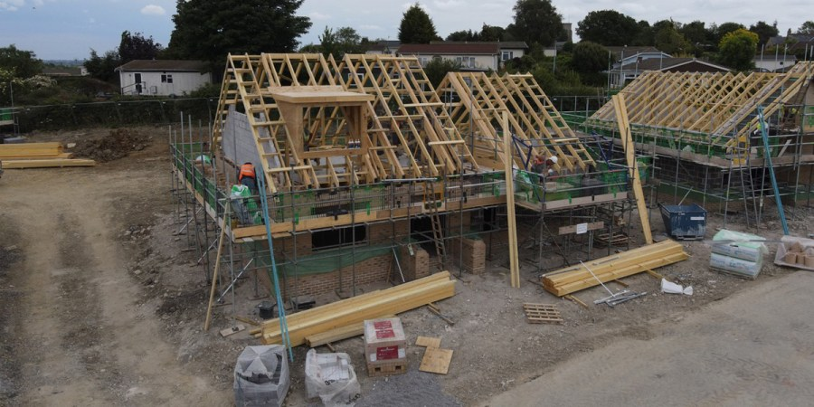 Despite COVID work still going on at West End Gardens – we are still building