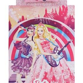 lenjerie de pat copii din bumbac Disney Barbie Princess Popstar - Paladin Store