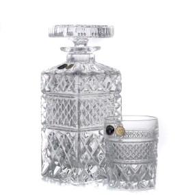 Set pahare cu sticla whisky din cristal Bohemia - Madison 2