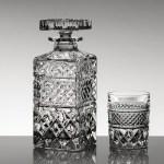 Set pahare si sticla whisky din cristal Bohemia - Madison