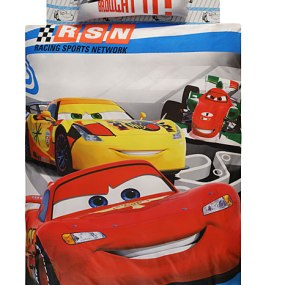 Lenjerie de pat copii TAC Disney - Cars Racing