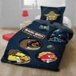 Lenjerie de pat copii bumbac ANGRY BIRDS - STAR WARS