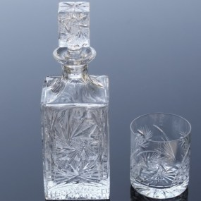 Set sticla si pahare cristal whisky - IMPERIAL