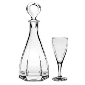 Set sticla si pahare cristal pentru vin - VICTORIA