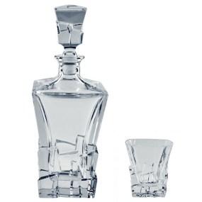 Set sticla si pahare Cristal pentru whisky - HAVANA