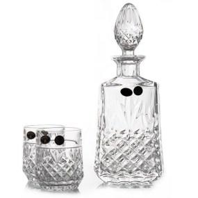 Set pahare cristal cu sticla whisky - CUBA 2