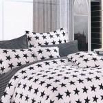 Lenjerii de pat negre din bumbac STAR