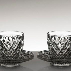 Set cescute cafea din cristal Bohemia MADISON