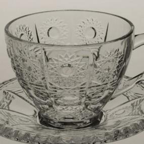 set cesti cafea cristal bohemia colectia thea