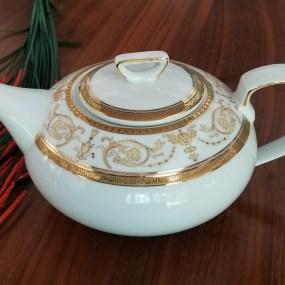 ceainic portelan sharim gold