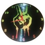 ceasuri handmade din disc de vinil - RASTA PEACE