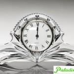 ceas de birou din cristal bohemia whings