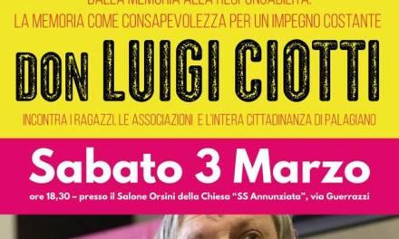 A Palagiano torna Don Luigi Ciotti